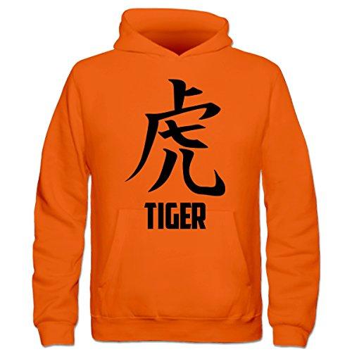 Tiger Kanji Character Kinder Kapuzenpulli by Shirtcity (Kanji-kinder Hoodie)