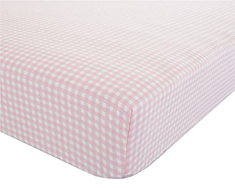 Carreaux Vichy Rose Blanc Drap Simple 90 cm x