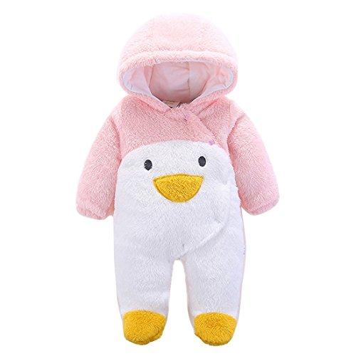 Baby Winter Anzug Neugeborene Warmhalten Kleidung mit Kapuze -