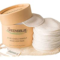 Reusable Make Up Remover Pads | 21 Pack | Washable Bamboo Cotton Pads | With 100% Cotton Laundry Bag & Storage Pot | Eco Friendly | Plastic Free | Zero Waste Makeup Removal | UK Brand