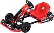 COOLBABY Crazy Drift Electric Scooter Go Cart Kating Car Battery Powered 4 Wheel Racer For Kids, Adult Pedal C