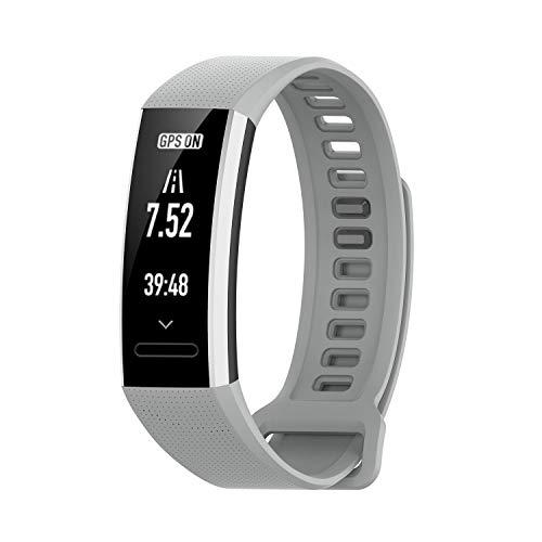 Upxiang Kompatibel für Huawei Band 2/Band 2 pro Smart Watch Armband Einfarbig Silikon Uhrenarmband Ersatz Wrist Band Strap Verstellbar Smart Watch Sportband