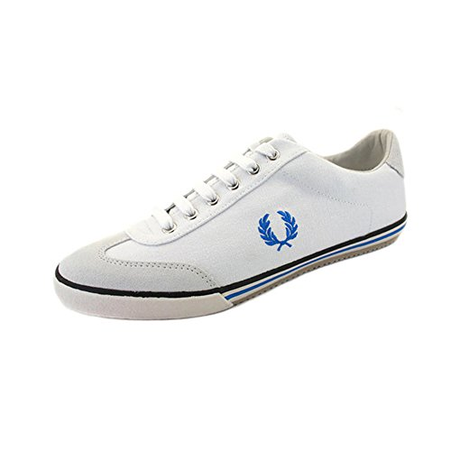 Fred Perry - Newington Canvas Suede - White Weiß