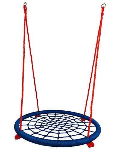 Preisvergleich Produktbild HoGa Schaukel Dima Blau Rot Rundschaukel Nestschaukel 100 cm 150kg GF7