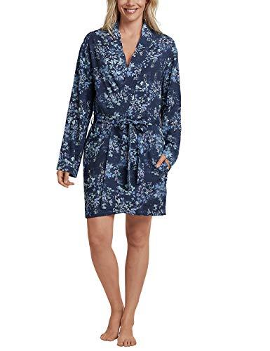 Schiesser Damen Mantel, 90cm Kimono Blau (Dunkelblau 803) 38 (Herstellergröße: 038)