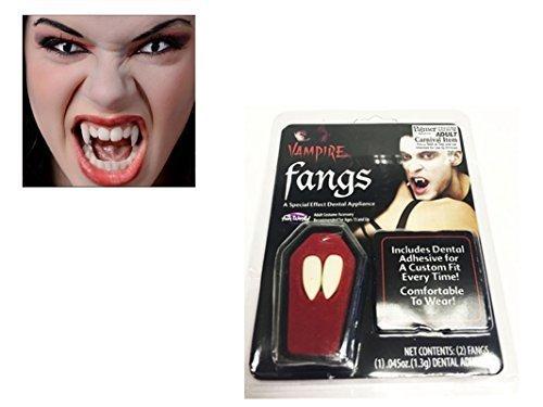 Vampir Halloween Zähne Zähne Mit Kitty Kleber Kostüm Zubehör Dracula Mützen
