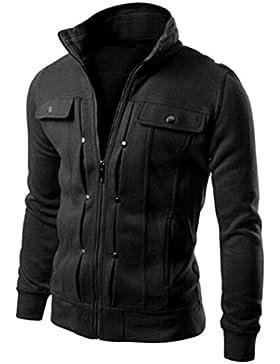 [Patrocinado]Ropa de abrigo para hombre, RETUROM Moda hombres Slim Diseñado chaqueta de solapa Cardigan abrigo