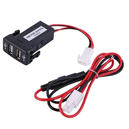 Tree-of-Life Caricatore per Porta USB per Auto Caricabatterie per Presa USB Dual Toyota Durevole 5V 2.1A 1A Dispositivo di Ricarica per Auto
