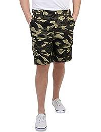 KRISP® Homme Bermuda Imprimé Camouflage Cargo Style Militaire