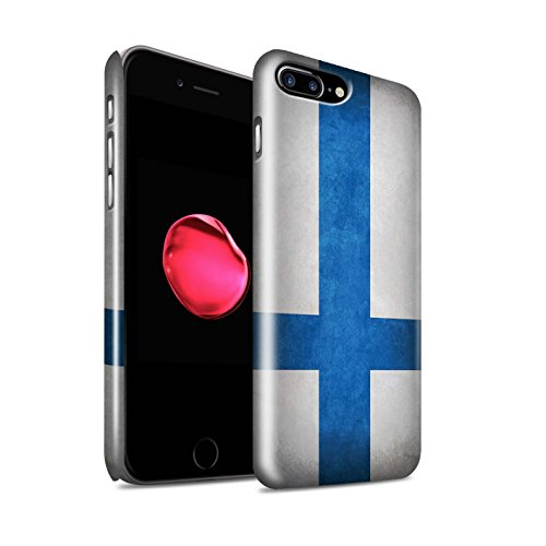 STUFF4 Glanz Snap-On Hülle / Case für Apple iPhone X/10 / Griechenland/Griechisch Muster / Flagge Kollektion Finnland/Finnische