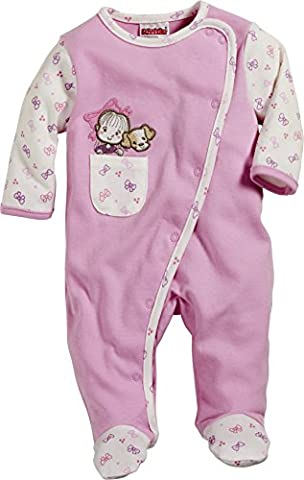 Schnizler Pyjama Overall Girl and Dog - Pyjama - Bébé fille, Rose (Light Pink), 18 mois