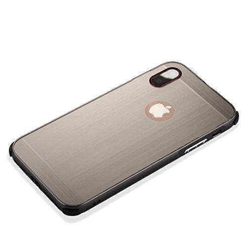 iPhone X Hülle, Valenth Slim Drop Schutz Metall Cover für iPhone X Gold
