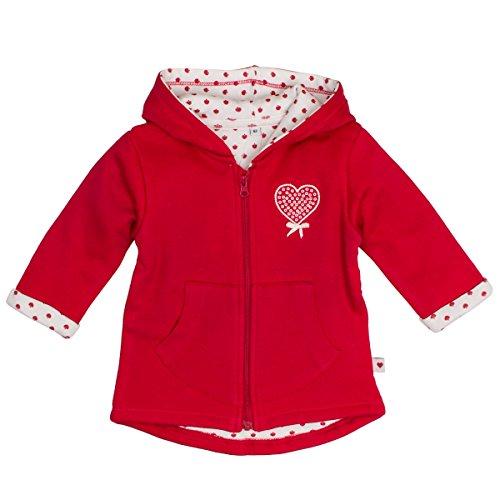 SALT AND PEPPER Baby-Mädchen Jacke NB Jacket Schatz Uni Kap Rot (Lipstick Red 335) 62