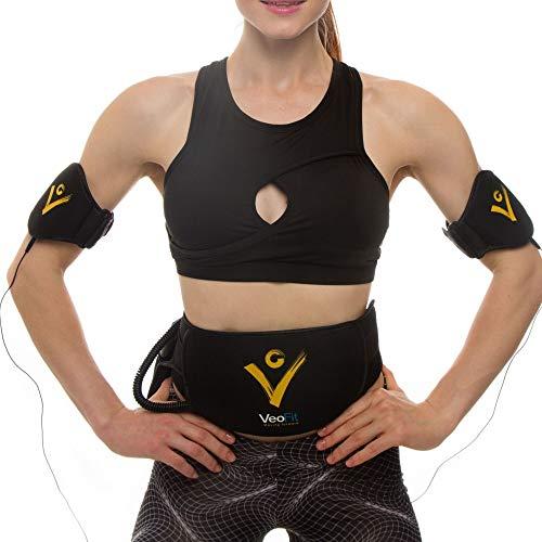 VEOFIT Fascia Elettrostimolatore per Addominali, Braccia, Cosce e Glutei Cintura Vibrante Dimagrante e Tonificatore Muscolare per Donna & Uomo- Guida Fitness e Nutritzione e Borsa Incluida