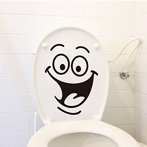 Atiehua Wandtattoos Lächeln Gesicht Lachende Wc Aufkleber Diy Möbel Dekoration Wandtattoos Kühlschrank Waschmaschine Aufkleber Bad Auto Geschenk