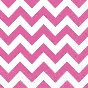 amscan 33cm Luncheon Chevron Servietten, Bright Pink (Up Spielen Pink Dress)