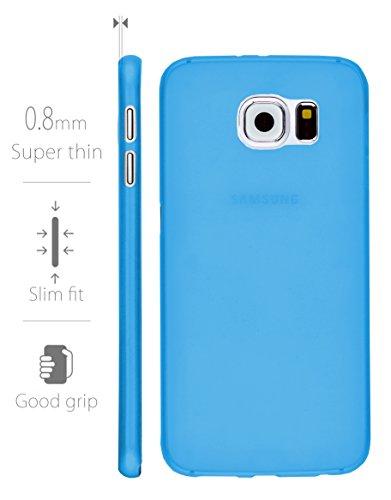 MyGadget PC Plastik Hülle für - Samsung Galaxy S6 Duos - ultra dünn & leicht (0,8 mm / 6 gr.) harter Bumper Schutzhülle Cover Case Anti Kratz Schutz in Schwarz Hartplastik Blau