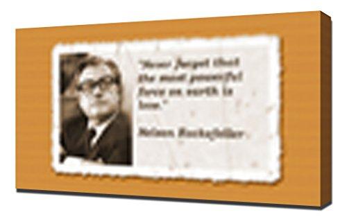 pingoo Prints Nelson Rockefeller Quotes 12,7cm Kunstdruck, Leinwand, mehrfarbig, 60x 90x 5cm (Nelson Rockefeller)