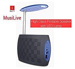 iball Music Live Bluetooth Speaker with FM Radio and LED Night Lamp(Black)