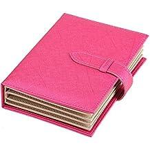 iSuperb® Libro de piel sintética para pendientes, joyas, bandeja de almacenamiento, organizador, caja para niñas, mujeres, novia, San Valentín, regalo, viajes, 18,5x 14x 4,5cm