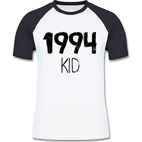 Geburtstag - 1994 KID - zweifarbiges Baseballshirt für Männer Weiß/Navy Blau