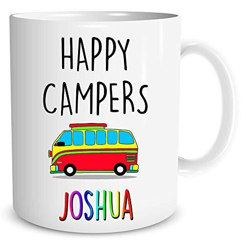 Happy Camper Camping Becher Personalisiert mit Beliebige Namen Personalisiert Happy Camper Becher Camping Becher Froh Campers Custom Happy Camper Becher WSDMUG1389 - Happy Camper Becher