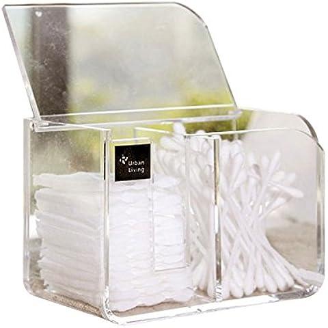 XL® Acrilico trasparente cotton fioc organizzatore Q-tip bagagli holder box trucco cosmetico caso F016