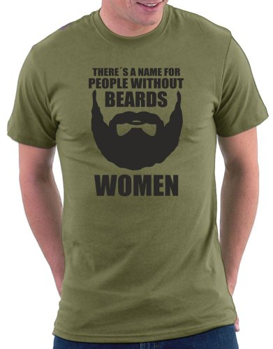 There´s a name for people without beards T-shirt Khaki