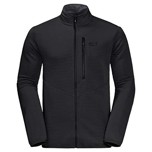 Jack Wolfskin Herren Modesto Jacket Men Warme Fleecejacke, Black, XXL