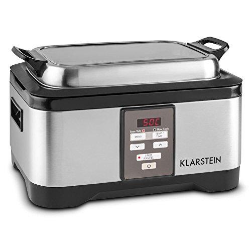 Klarstein Tastemaker Sous Vide Garer + FoodLocker Vakumierer Set (6 Liter Vakuumgarer, 550 Watt, Edelstahl, LED-Display, Vakuumiergerät, 130 Watt, -0,75 Bar, 10 Beutel) silber - 3