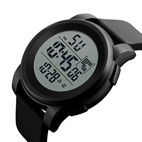 Luoluoluo Smart Watch Mens Simulated Digital Military Sports LED Waterproof Wrist Watch