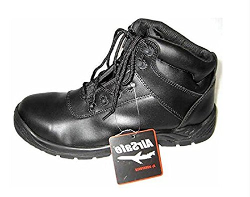 Airsafe As-c6 - Chaussures À Lacets Noir Pour Les Hommes En Noir, Couleur Noire, Taille 45.5