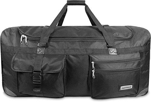 Reisetasche mit Rollen in verschiedenen Designs XXL großer Stauraum Schwarz / 100 Liter
