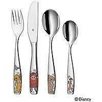 WMF Disney El Rey León - Cubertería para niños 4 piezas (tenedor, cuchillo de