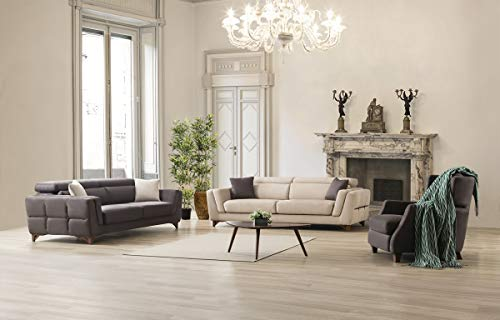 Sofa Dreams Elegante Polstergarnitur Rostock 3er und 1er mit Relaxfunktion