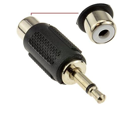 RCA Cinch Femelle Vers 3,5 mm Mono Jack Fiche adaptateur