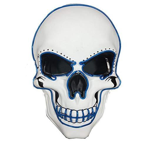 smzzz Horror Maske weiß Wanderer Game of Thrones - perfekt für Fasching Karneval & Halloween - Kostüm für (Game Of Thrones Weibliche Kostüm)