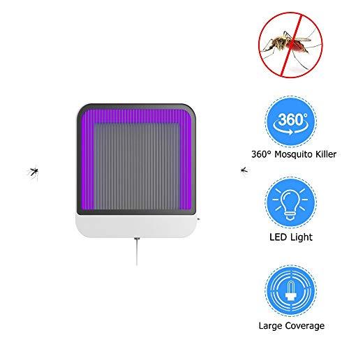 Moskito-Lampe Stromschlag-Typ-Haushalt-an Der Wand Befestigtes Moskito-Abwehrmittel Desktop-Moskito-Falle Eine Ausladende Helle Fliegen-Lampe Wand Home Desktop
