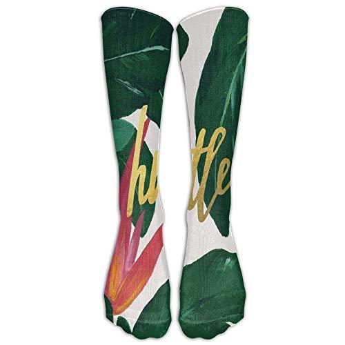 Gold Hustle Banana Leaf Great Quality Knee High Tube Socks