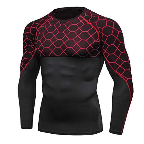 erhemd Unterwäsche Kompressions Cool T-Shirt Top,Fitness Funktionsshirt, atmungsaktiv ()