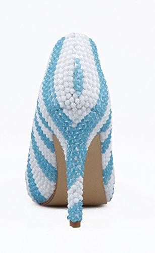 TDA - Scarpe con plateau donna Blue/White