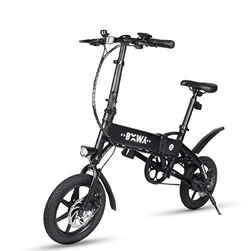 Chen0-super Plegable Bicicleta eléctrica Ligera Aviación Aluminio City Bike Frame Single Speed hasta 25 KM 240 W Motor MAX Mileage...