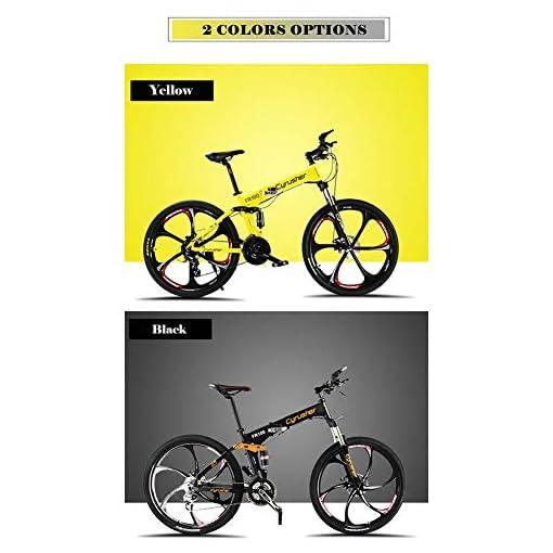Extrbici FR100 26 pollici pieghevole mountain bike pieghevole in lega di alluminio mountain bike sospensione completa e freni a disco e Shimano M310 Altus a 24 velocità (Regno Unito stock)