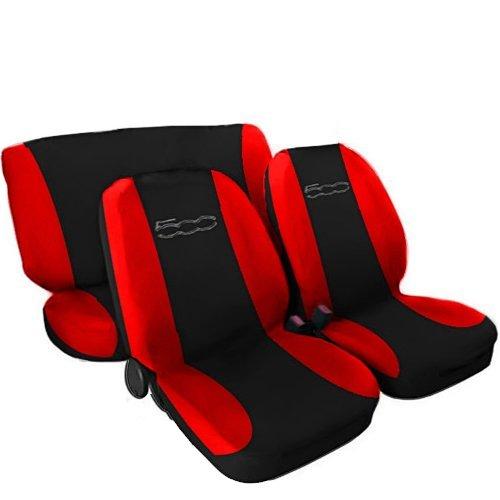 Lupex Shop 500_N.R Coprisedili Bicolore, Nero/Rosso