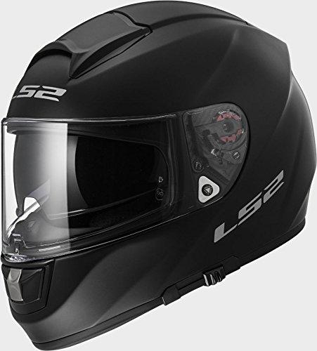 LS2FF397Vector FT2mate negro casco de moto, mujer hombre, LS2 FF397, negro, L 60 cm