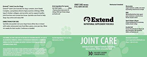 Extend Pet Gelenkpflege für Hunde – 1 Monat Versorgung – Glucosamin für Hunde mit Msm & Ascorbinsäure -Pure Grade Zutaten