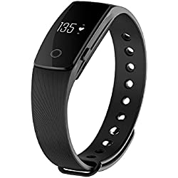 ID107 Bluetooth Heart Rate Monitor Smart Watch Fitness Tracker for Android IOS Black