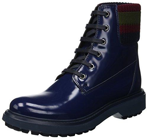 Geox Damen D ASHEELY B Biker Boots Blau (Blue C4000) 40 EU