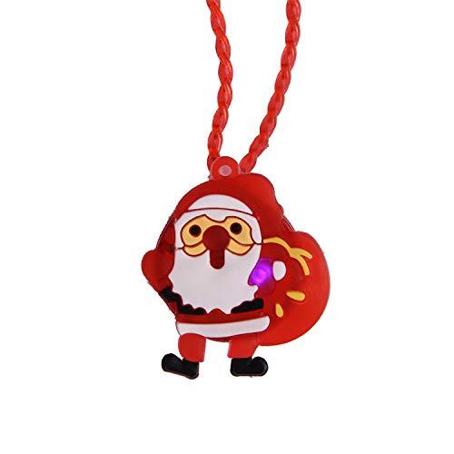 (Weihnachtsspielzeug, Vovotrade 1PC beleuchtet Weihnachten LED Leuchten Halskette Kinder Erwachsene Party Favors Weihnachten Spielzeug Kinder (Rot))