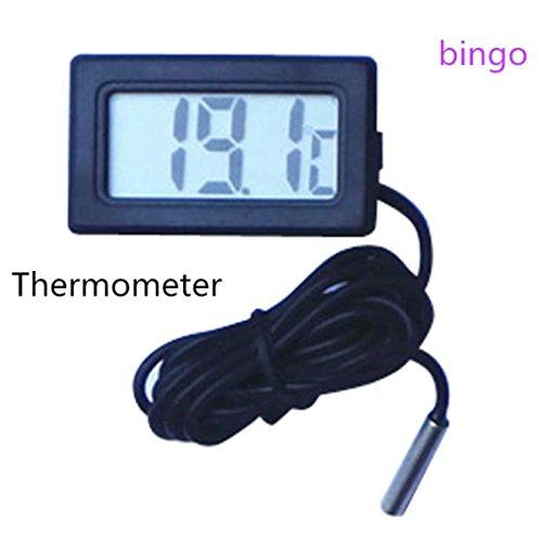 LCLrute Hochwertige Mini Thermometer Temperaturanzeige Digital LCD-Display-50 Celsius ~ 110 Celsius (Black)
